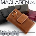 マクラーレン MACLAREN.co 多機能キーケース財布 牛革製 キャメル
