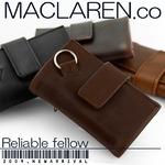 マクラーレン MACLAREN.co 多機能キーケース財布 牛革製 ダークブラウン