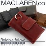 マクラーレン MACLAREN.co 多機能キーケース財布 牛革製 レッド