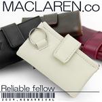 マクラーレン MACLAREN.co 多機能キーケース財布 牛革製 ホワイト
