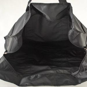コンパクトに収納可能な大容量ポケッタブルボストンバッグ!ブラック 8045