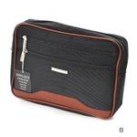 多収納セカンドバッグの定番!2カラー クラッチバッグ ポーチ メンズ ブラック 0352の画像