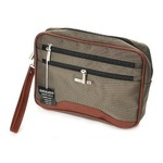 多収納セカンドバッグの定番!2カラー クラッチバッグ ポーチ メンズ カーキ 0352の画像