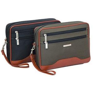 多収納セカンドバッグの定番!2カラー クラッチバッグ ポーチ メンズ カーキ 0352