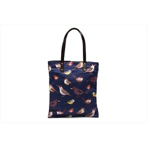 リアルな鳥が愛らしい♪A4対応やわらか軽量トートバッグ!ネイビー T-00101531