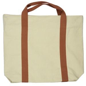 色合いとシルエットが可愛い♪大きめキャンバストートバッグ!無地2色ベージュT-00101430