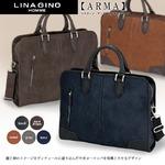 多収納で便利!上品なビジネスバッグ♪リナジーノ アーマ LINAGINO ARMA ダークブラウン