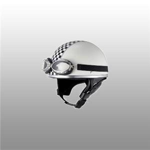 JUQUE(ジュクー)ハーフヘルメット XV001 ビンテージ チェッカー ホワイト