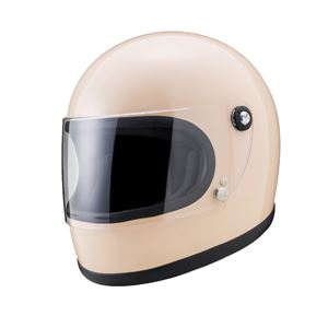 ヤマシロ(山城) オートパーツYKH-002ニューレトロフルフェイスヘルメットIV(アイボリー) Lサイズ