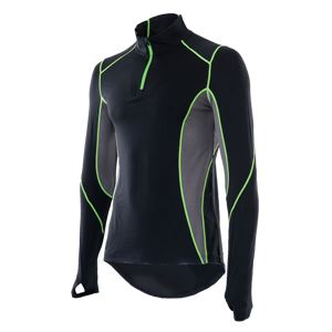 山城謹製 YKI-101 インナーシャツ 長袖ZIP BK(ブラック) Lサイズ