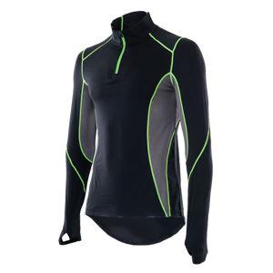 山城謹製 YKI-101 インナーシャツ 長袖ZIP BK(ブラック) Mサイズ