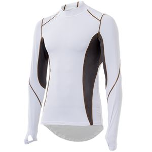山城謹製 YKI-102 インナーシャツ 長袖LOW WH(ホワイト) Lサイズ