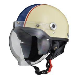 リード工業(LEAD)バブルシールド付ハーフヘルメットCR760アイボリー/NEフリー