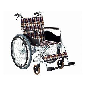 松永製作所アルミ自走式車いすBigサイズAR-280/座幅46cmS-1【非課税】
