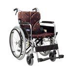 カワムラサイクル アルミ自走用車いす ベーシックモジュール BM22-38・40・42SB-M 中床タイプ/ 座幅40cm A3 レッドフレーム【非課税】