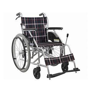 カワムラサイクルアルミ製標準車いす自走用KV22-40SB/A22(黒チェック)【非課税】