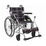 カワムラサイクル アルミ製標準車いす 自走用 KV22-40SB /A22(黒チェック)【非課税】