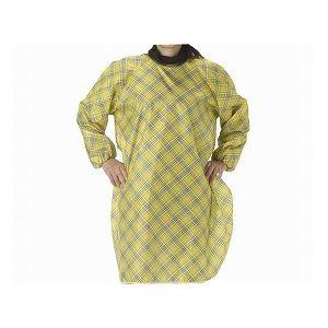 特殊衣料食事前掛(超撥水)袖付/1040和柄うさぎ(うぐいす)