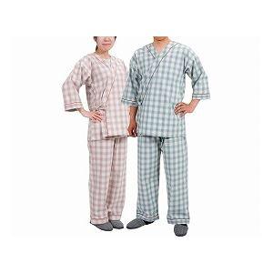特殊衣料寝巻きセパレートタイプ紳士用/0730タータングリーンL