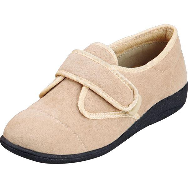 マリアンヌ製靴 彩彩~ソフト~ケアシューズ 通常インソールタイプ W801 /21.5cm ベージュf00
