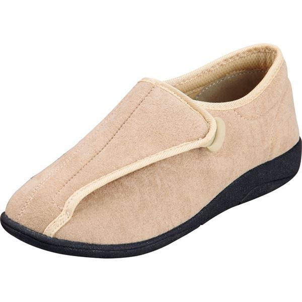 マリアンヌ製靴 彩彩~ソフト~ケアシューズ 通常インソールタイプ W802 /23.5cm ベージュf00