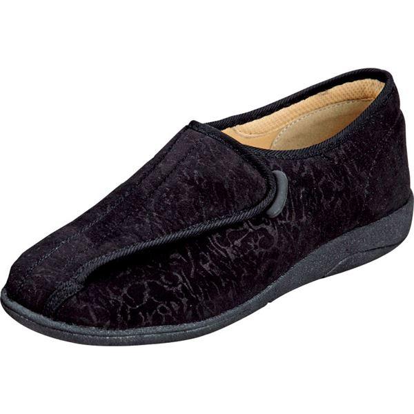 マリアンヌ製靴 彩彩~ソフト~ケアシューズ 通常インソールタイプ W802 /25.0cm ブラックf00