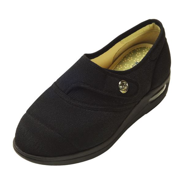 マリアンヌ製靴 彩彩~ちりめん~ W1100 婦人用 /24.0cm ブラックf00