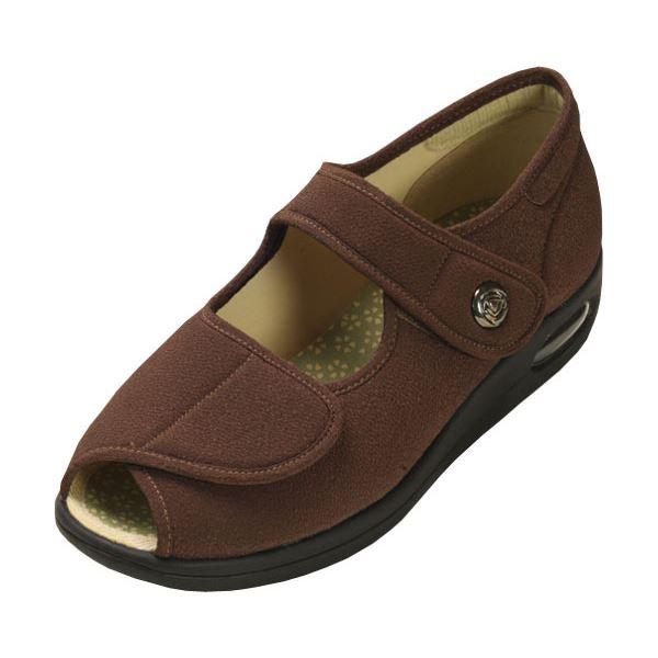 マリアンヌ製靴 彩彩~ちりめん~ W1103 婦人用 /24.0cm ブラウンf00