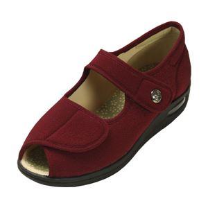 マリアンヌ製靴 彩彩~ちりめん~ W1103 婦人用 /22.0cm あずき h01