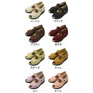 マリアンヌ製靴 彩彩~ちりめん~ W1103 婦人用 /24.0cm あずき h02