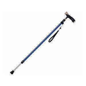 ミキソフトグリップスリム伸縮アルミ杖/MRA-06103ブルー