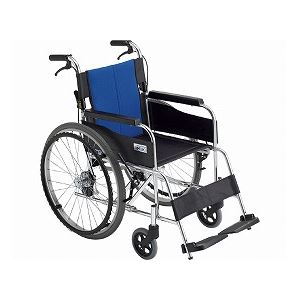 ミキアルミ自走車いすBAL-1/座幅40cmブルー(A-2)ナイロン【非課税】