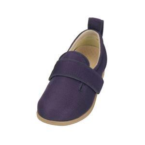 介護靴 施設・院内用 ダブルマジック2メッシュ 1047 両足 徳武産業 あゆみシリーズ /S (21.0~21.5cm) 紫 h01