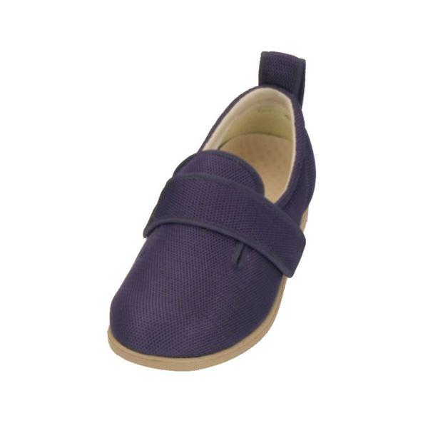 介護靴 施設・院内用 ダブルマジック2メッシュ 1047 両足 徳武産業 あゆみシリーズ /3L (25.0~25.5cm) 紫f00