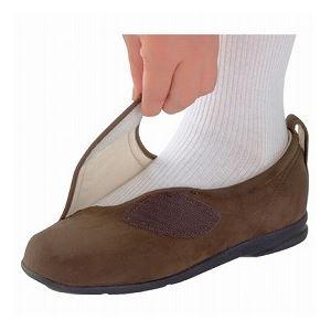 介護靴 施設・院内用 ウィングマジック 1101 両足 徳武産業 あゆみシリーズ /LL (24.0~24.5cm) 茶 h03