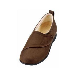 介護靴 施設・院内用 ウィングマジック 1101 片足 徳武産業 あゆみシリーズ /3L (25.0~25.5cm) 茶 左足 h01