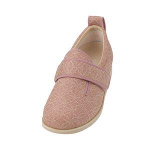 介護靴 施設・院内用 ダブルマジック2雅 5E(ワイドサイズ) 7020 両足 徳武産業 あゆみシリーズ /3L (25.0~25.5cm) ピンク h01