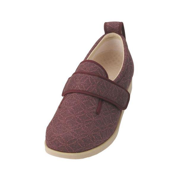 介護靴 施設・院内用 ダブルマジック2雅 7E(ワイドサイズ) 7021 両足 徳武産業 あゆみシリーズ /LL (24.0~24.5cm) あずきf00