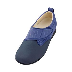 介護靴 施設・院内用 ウィングストレッチ 1102 片足 徳武産業 あゆみシリーズ /LL (24.0~24.5cm) 紫 左足 h01
