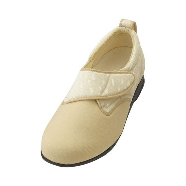 介護靴 施設・院内用 ウィングストレッチ 1102 両足 徳武産業 あゆみシリーズ /LL (24.0~24.5cm) ベージュf00