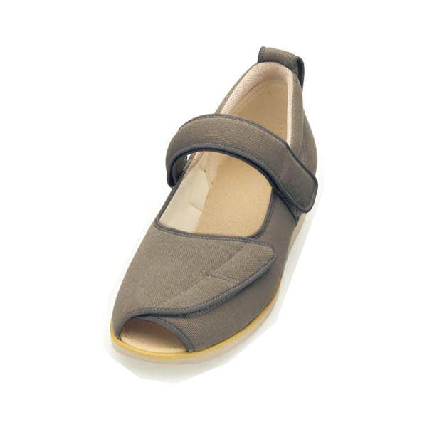介護靴 施設・院内用 オープンマジック2 3E 1015 片足 徳武産業 あゆみシリーズ /LL (24.0~24.5cm) Mグレー 左足f00
