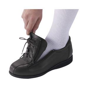 介護靴 外出用 コンフォート2 9E(ワイドサイズ) 7027 片足 徳武産業 あゆみシリーズ /LL (24.0~24.5cm) 黒 左足 h02
