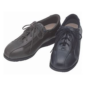 介護靴 外出用 コンフォート2 9E(ワイドサイズ) 7027 片足 徳武産業 あゆみシリーズ /3L (25.0~25.5cm) 黒 左足 h01