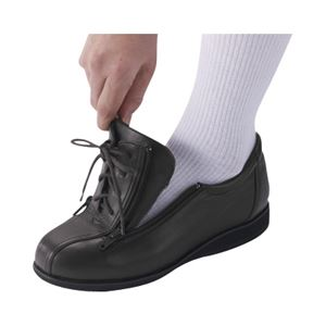 介護靴 外出用 コンフォート2 9E(ワイドサイズ) 7027 片足 徳武産業 あゆみシリーズ /3L (25.0~25.5cm) 黒 左足 h02