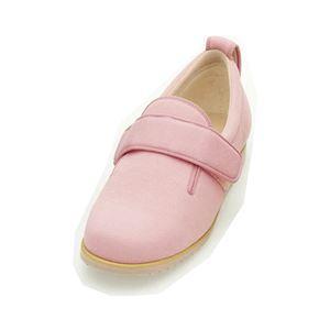 介護靴 施設・院内用 ダブルマジック2 3E 1017 両足 徳武産業 あゆみシリーズ /S (21.0~21.5cm) ピンク h01