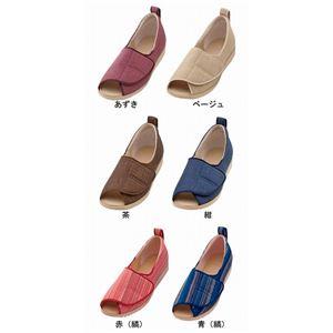 介護靴 施設・院内用 オープン和(なごみ) 1026 両足 徳武産業 あゆみシリーズ /LL (24.0~24.5cm) 青(縞) h02