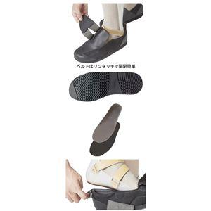介護靴 RE-001(4E) 1702 / L 黒 右足 h02