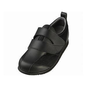 介護靴 RE-001(4E) 1702 / L 黒 右足 f04
