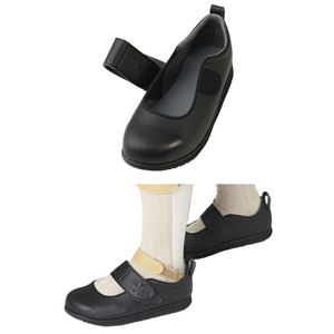 介護靴 RE-003(4E) 1704 / L 黒 右足 h03