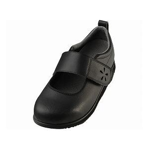 介護靴 RE-003(4E) 1704 / LL 黒 左足 f06